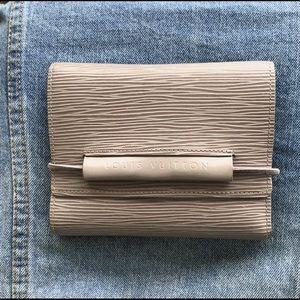 Louis Vuitton Trifold Epi pepper grey wallet